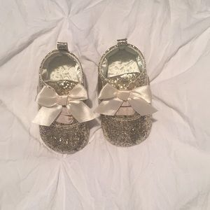 Glitter Gold Baby Oxfords